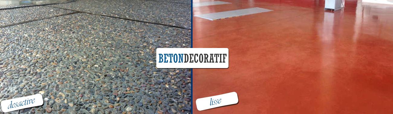 beton desactive et lisse