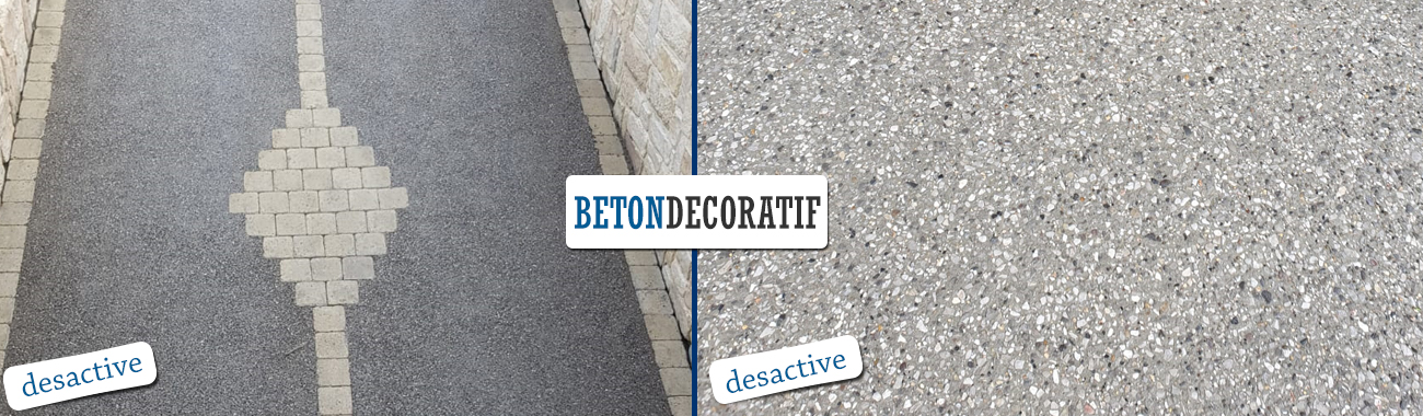 sol en Béton désactivé